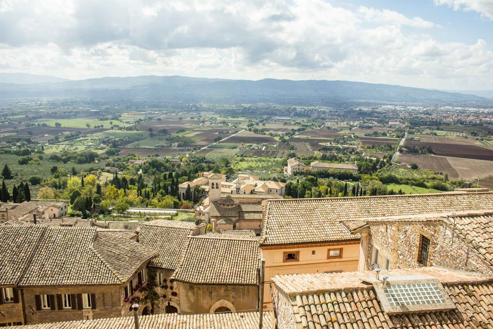 Rooftops in Assisi