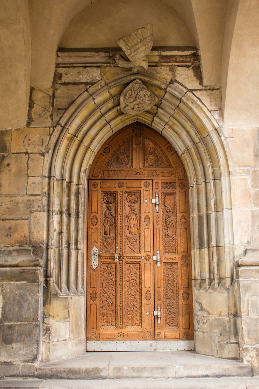 Church Door, Prague, Czech Republic