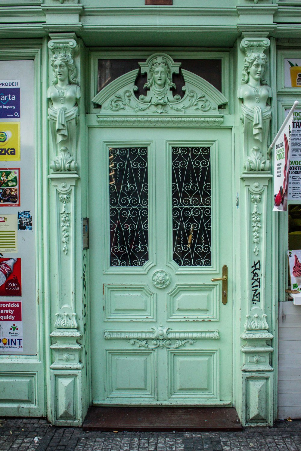 Mint Door, Prague, Czech Republic