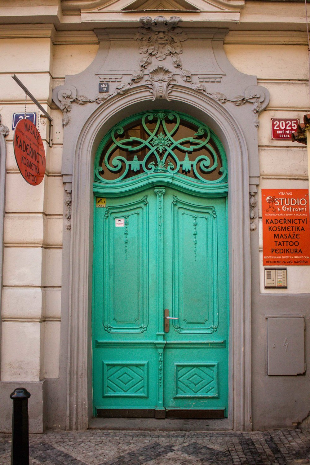 Teal Door, Prague, Czech Republic