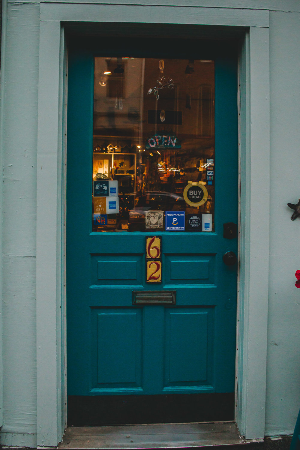 Local Shop Door, Portsmouth, NH