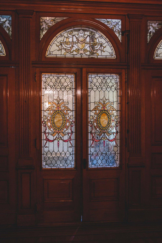 Milwaukee, Pabst Mansion Bathroom Door