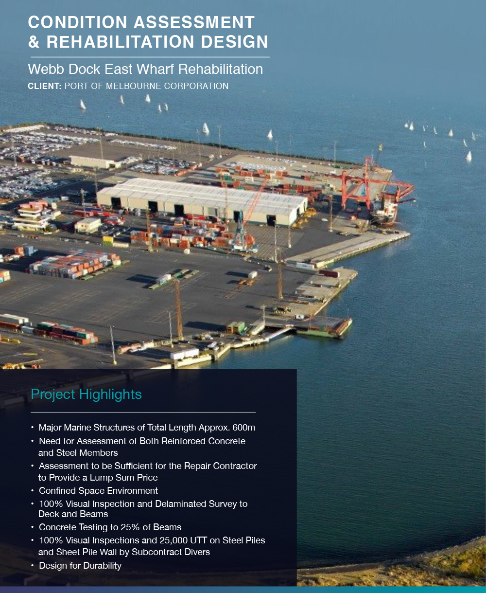 Click to view  Webb Dock East Wharf Rehabilitation Case Study