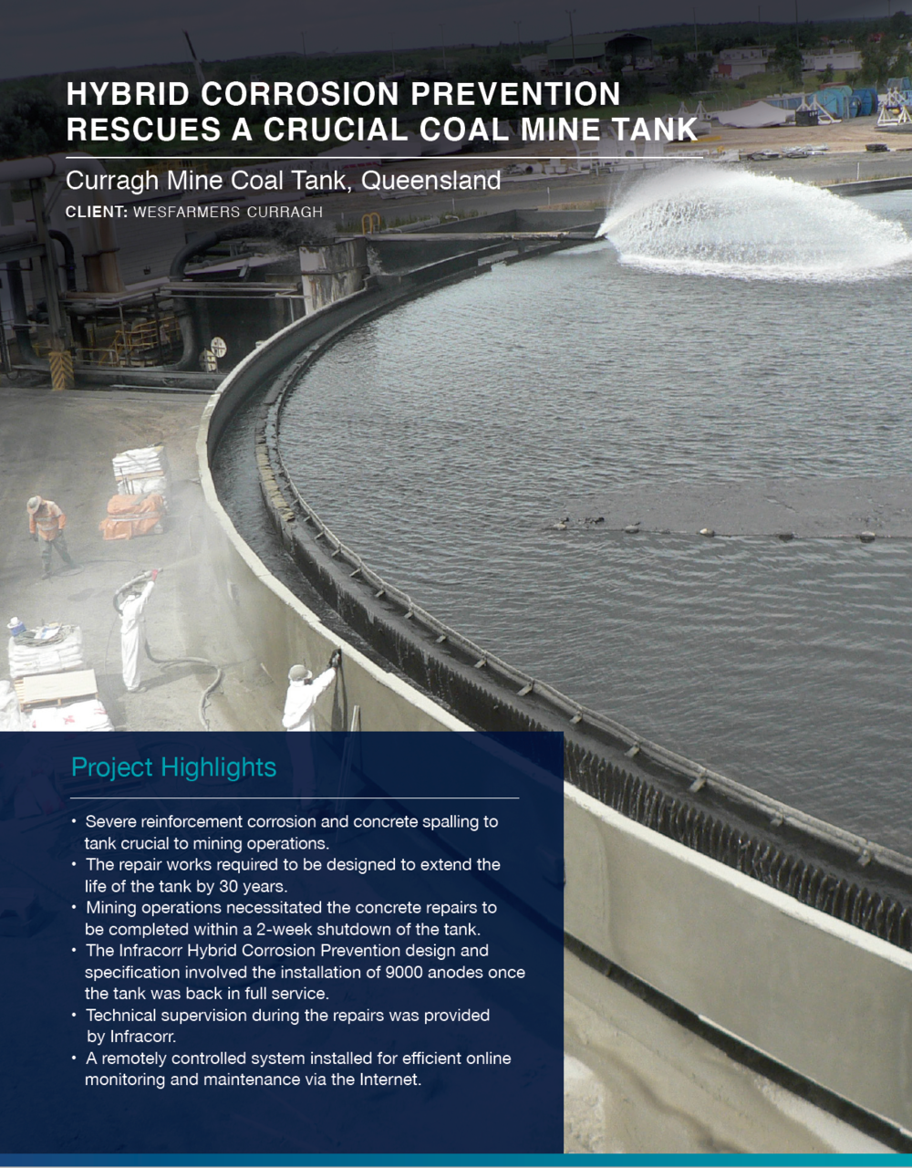 Click to view  Curragh Mine Coal Tank Case Study