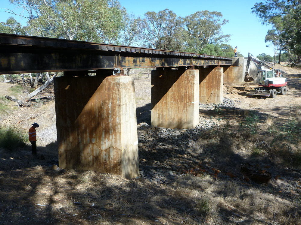 The Strathfillan Creek Bridge before the repair works.