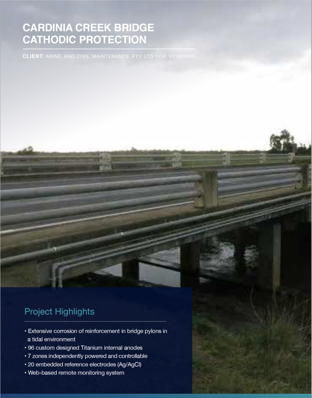 Click to view  Cardinia Creek Bridge Cathodic Protection Case Study