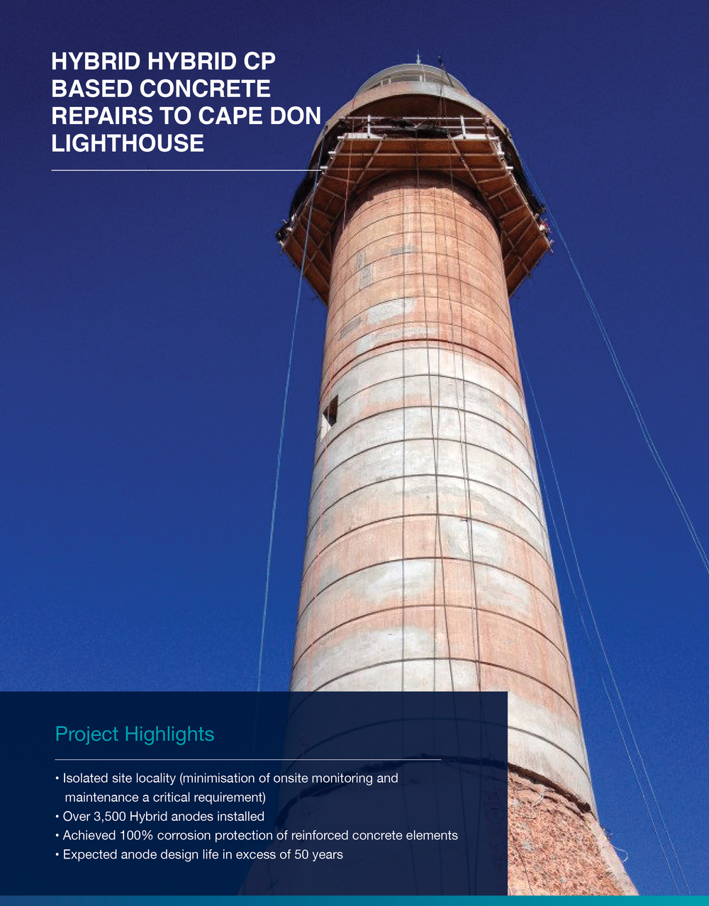 Click to view  Repairs To Cape Don Lighthouse Case Study