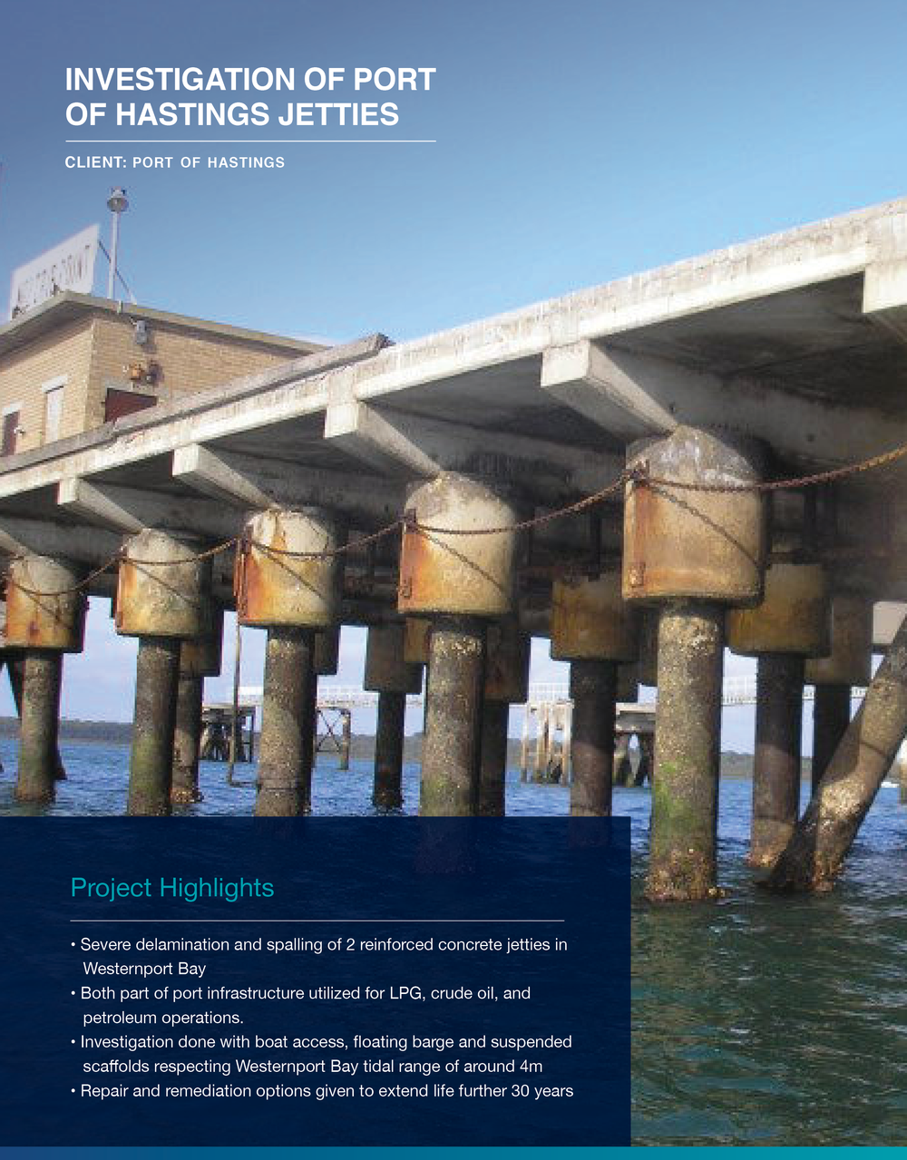 Click to view  Investigation Of Port Of Hastings Jetties Case Study