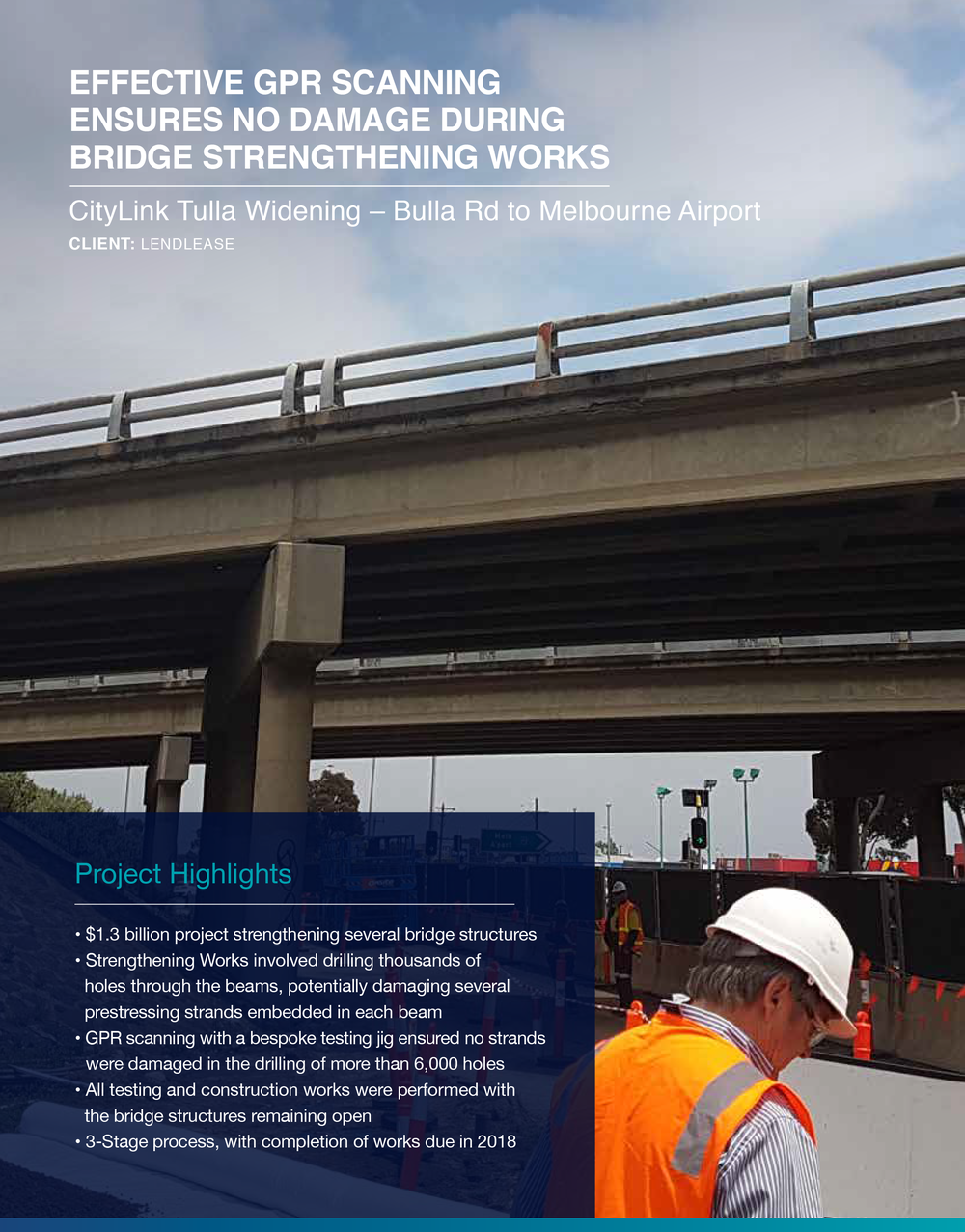 Click to view  CityLink Tulla Widening  Case Study