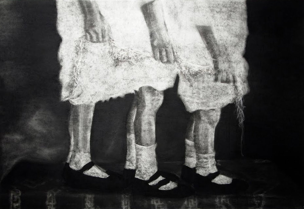 'latent IV' - charcoal on paper 100x76cm, 2009