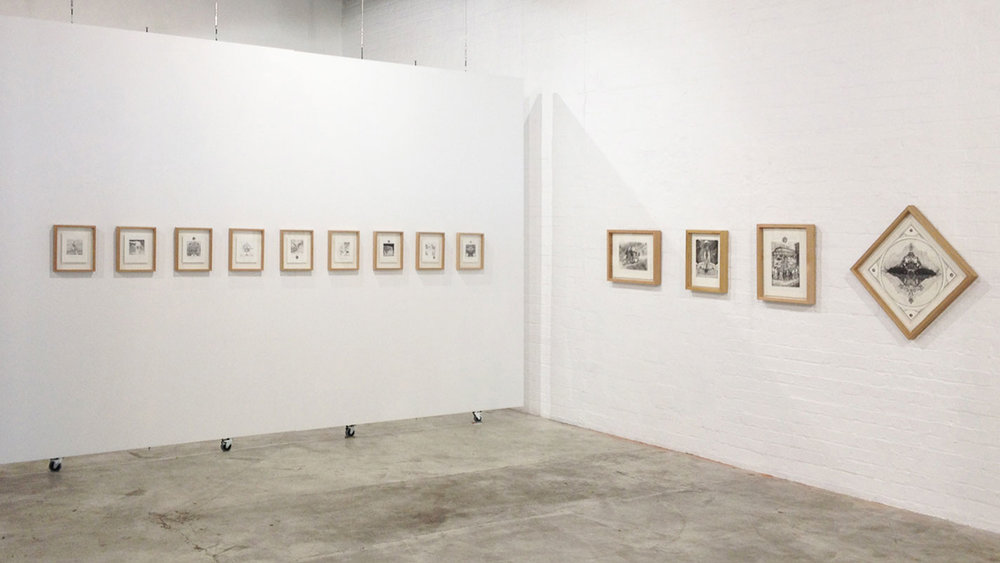 THE LAND, THE WAY AND THE WALL (INSTALLATION VIEW)