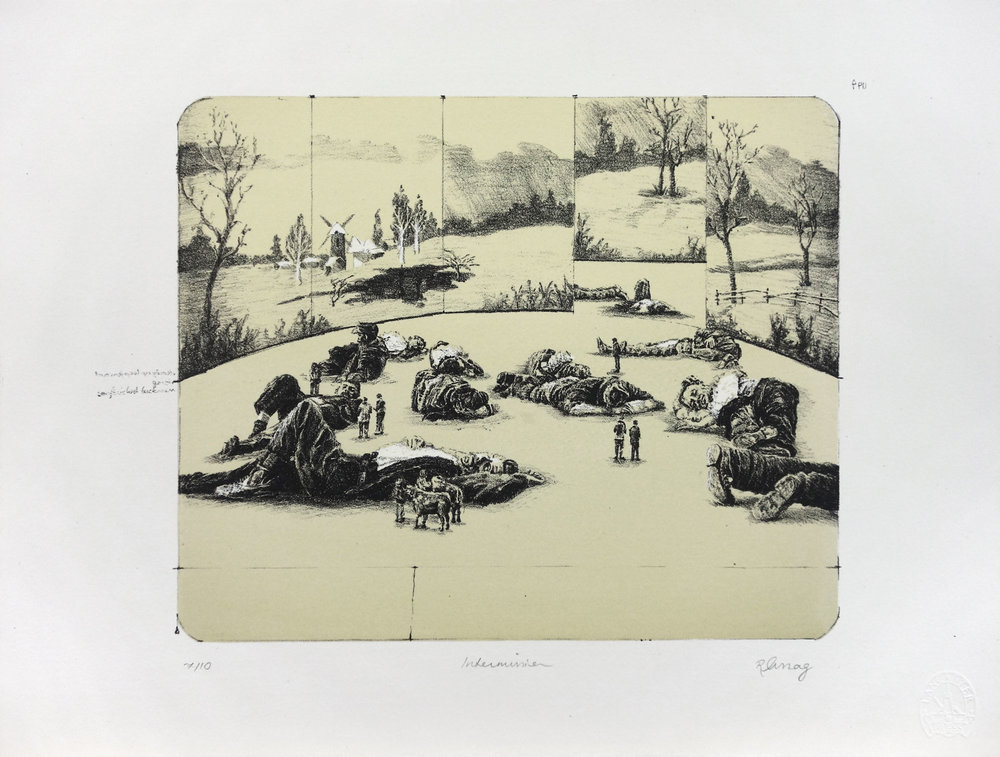 'Intermission' - Lithograph, 38x29cm, 2011, Edition of 10