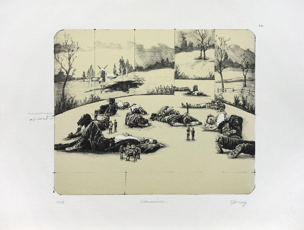 'Intermission' - lithograph, edt 10, 38x29cm, 2011