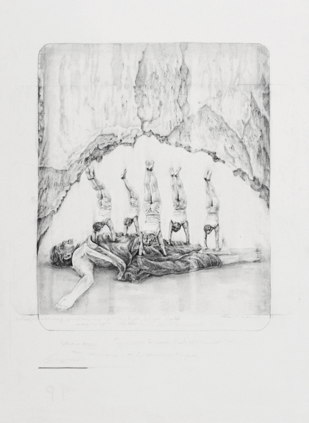 'The quiet walkover' (detail) - graphite and carbon pencil on paper, 28x38cm, 2011