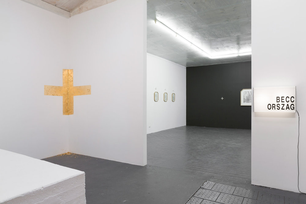 Becc Ország 'Fantasy of virtue / All things and nothing' Install view at Stockroom Gallery Kyneton 2018