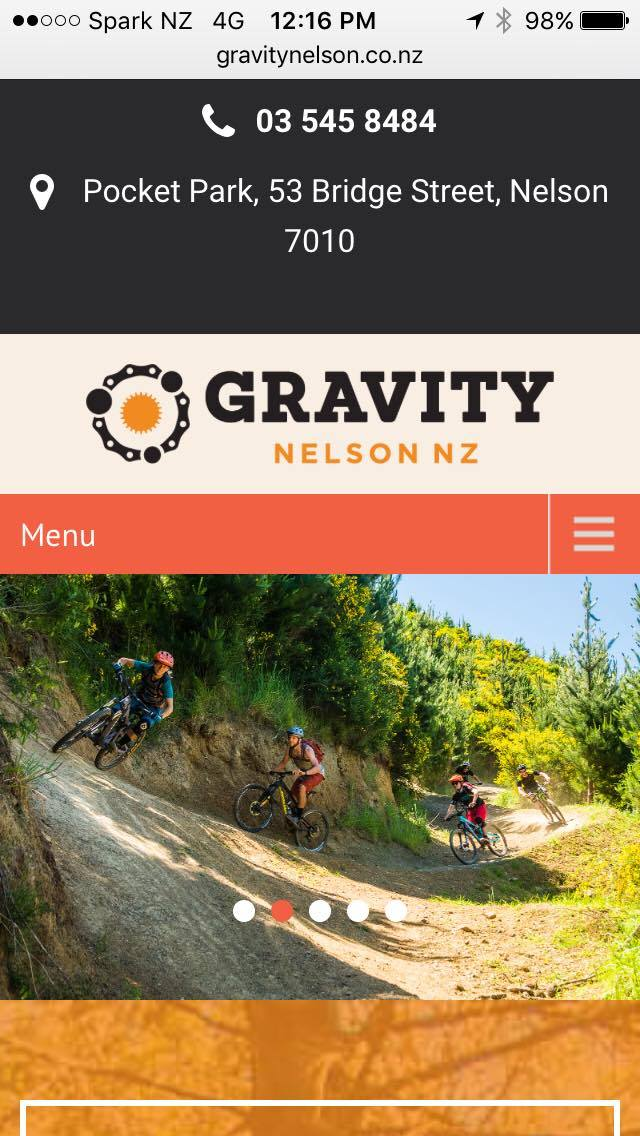 Gravity Nelson ticks all the boxes for mobile friendly browsing