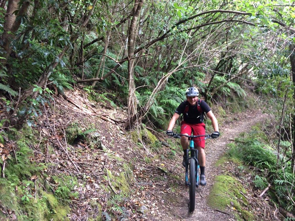 Dan, descending into Nydia Bay
