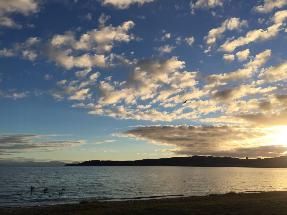 Lake Taupo was the staging point for our transition into wilderness adventure mode.