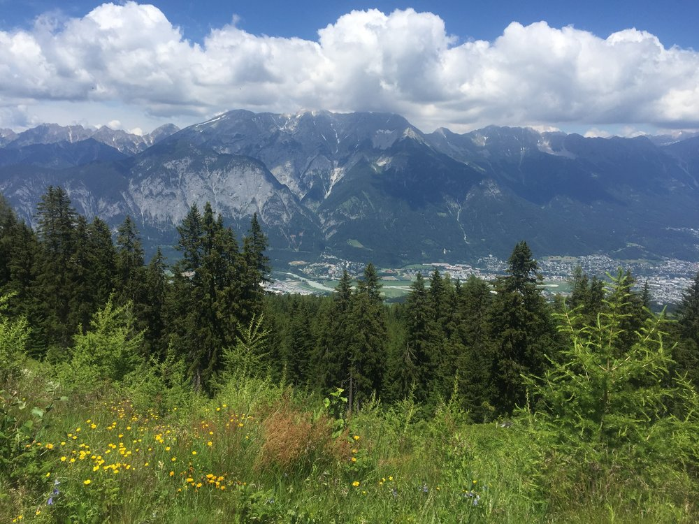 Views of Innsbruck from the trails