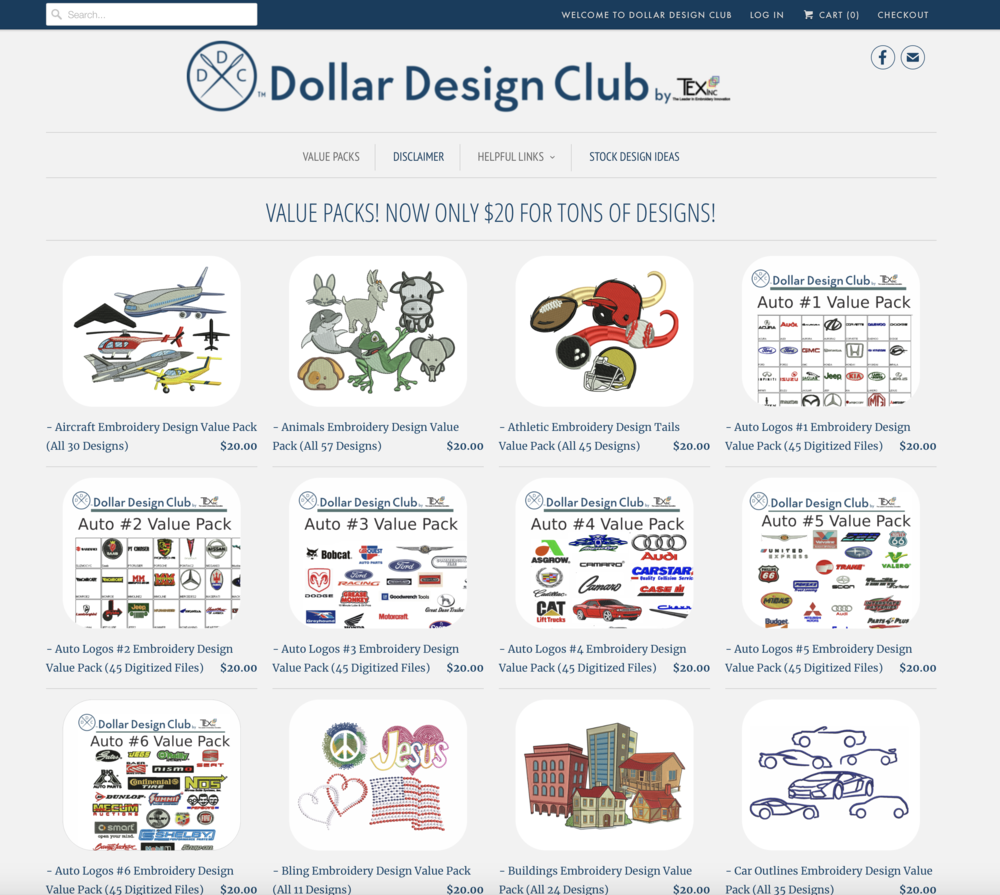 Dollar Design Club - Embroidery Designs
