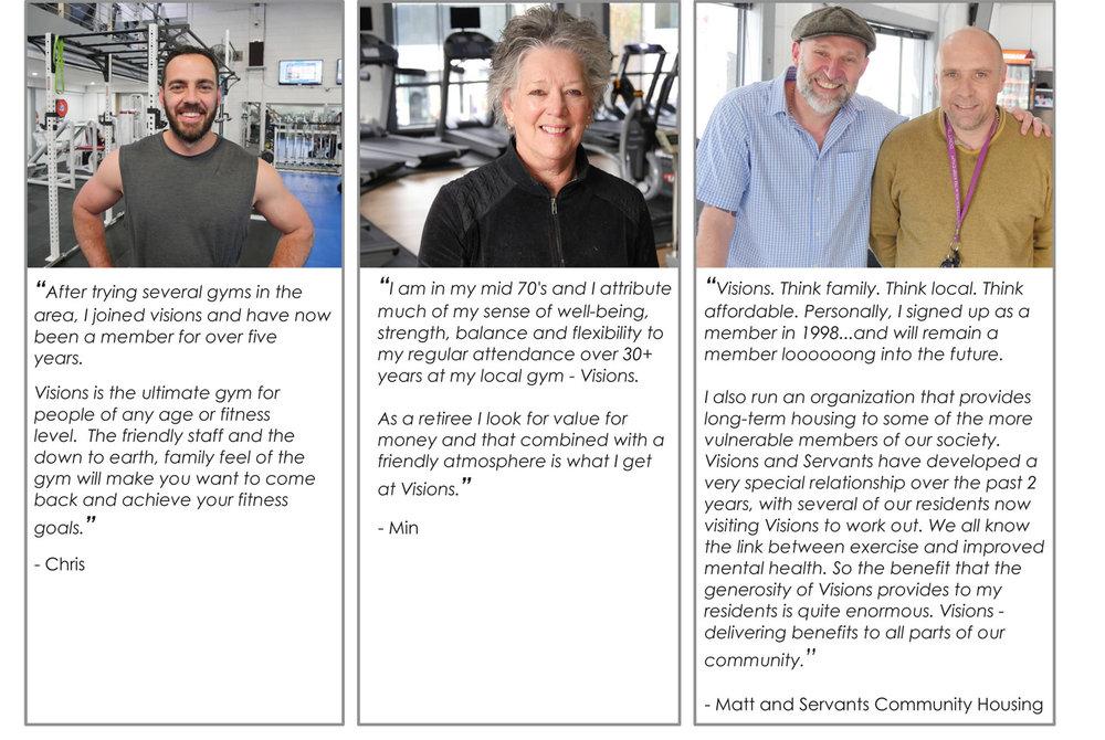 Visions Hawthorn's Gym Testimonials 2