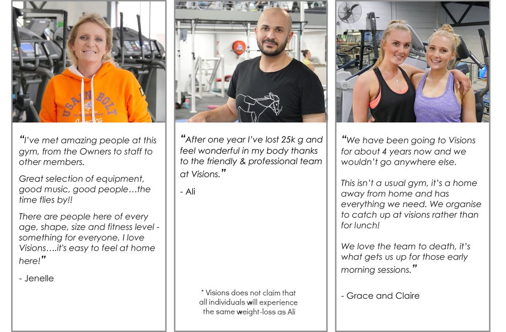 Visions Hawthorn's Gym Testimonials 1