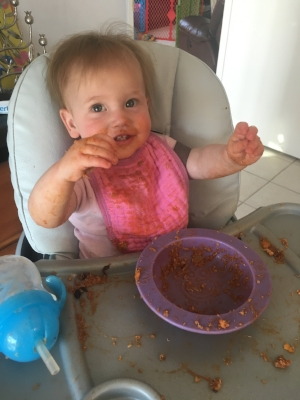 Baby girl loves chili!