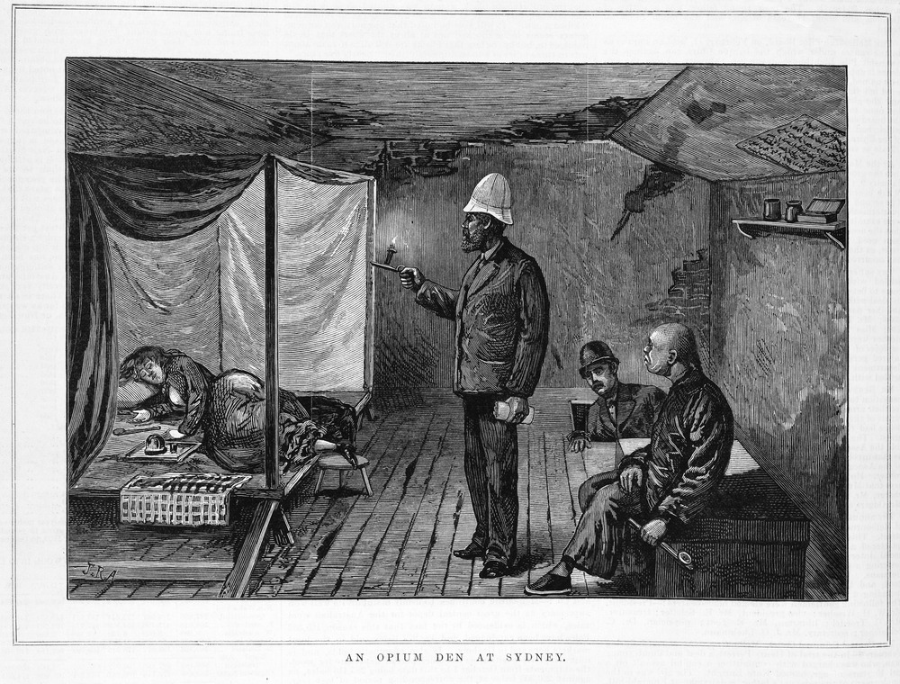 An Opium Den, 1881.  Image courtesy of SLV.