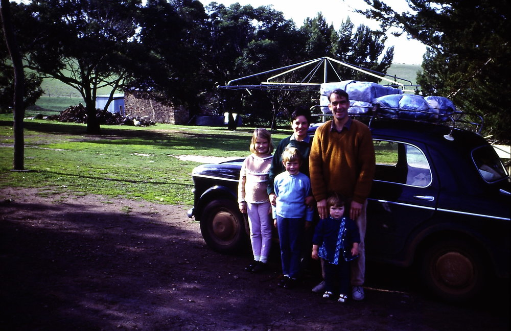 Returning to the South Australian roots on a family holiday, c1970. Image courtesy of Phoebe's private collection.