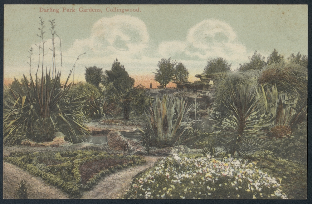Darling Park Gardens Collingwood, c1900-09.  Image courtesy of SLV collection