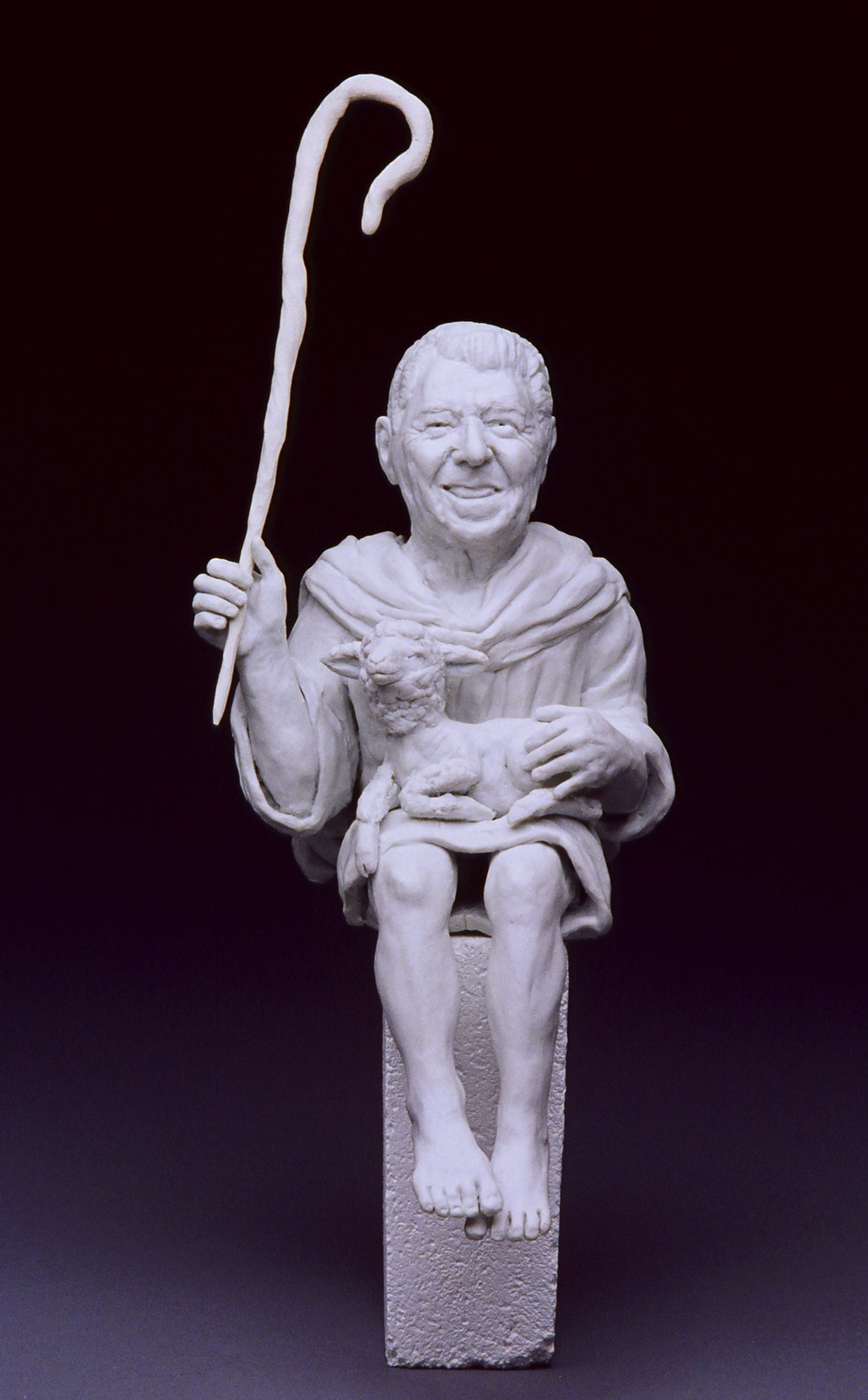 "THE GOOD SHEPHERD , 2004  cone 10 fired, unglazed porcelain  12"" by 5"" by 6"