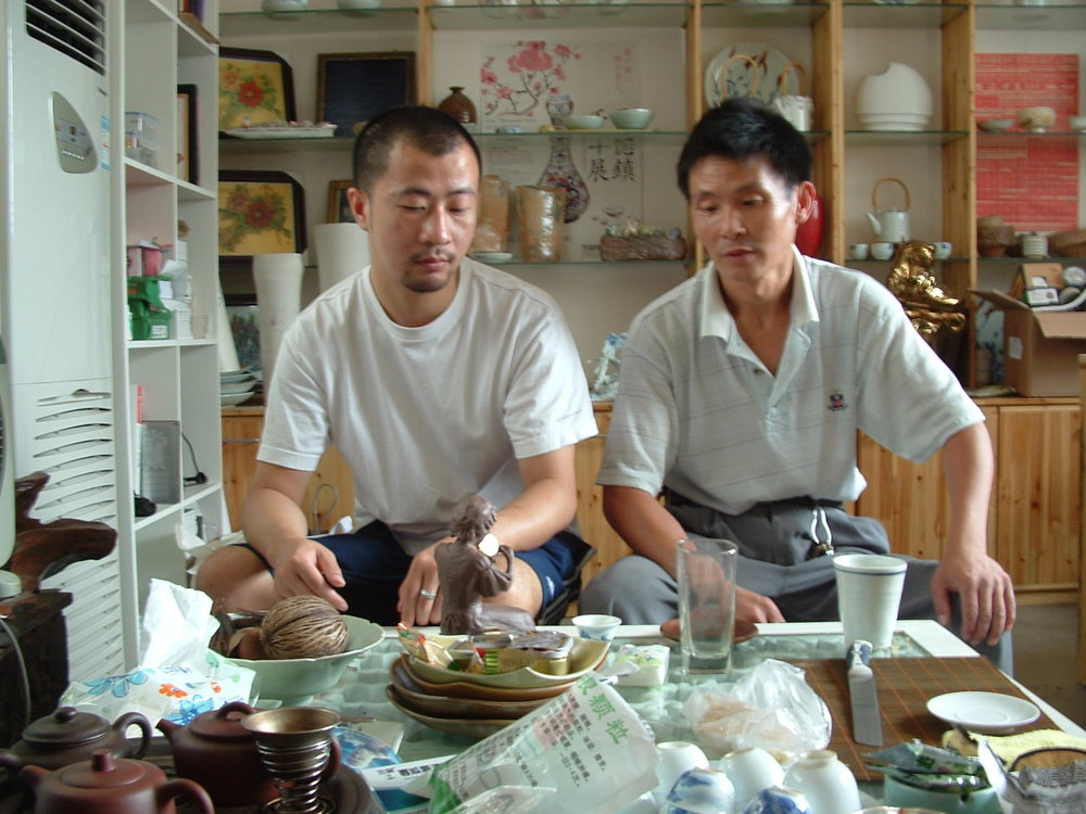 Wangyue and the Shifu moldmaker.