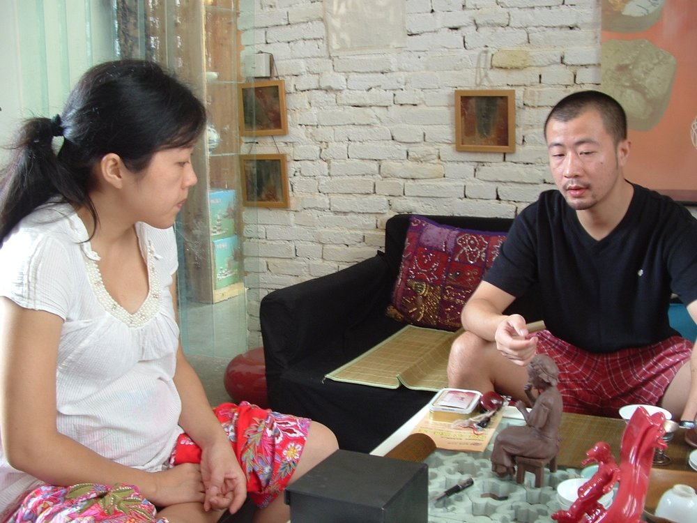 Jing Jing and her husband Wangyue.