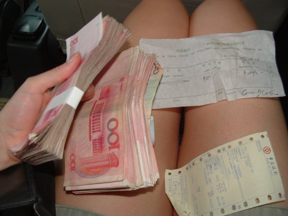 Half the cash.