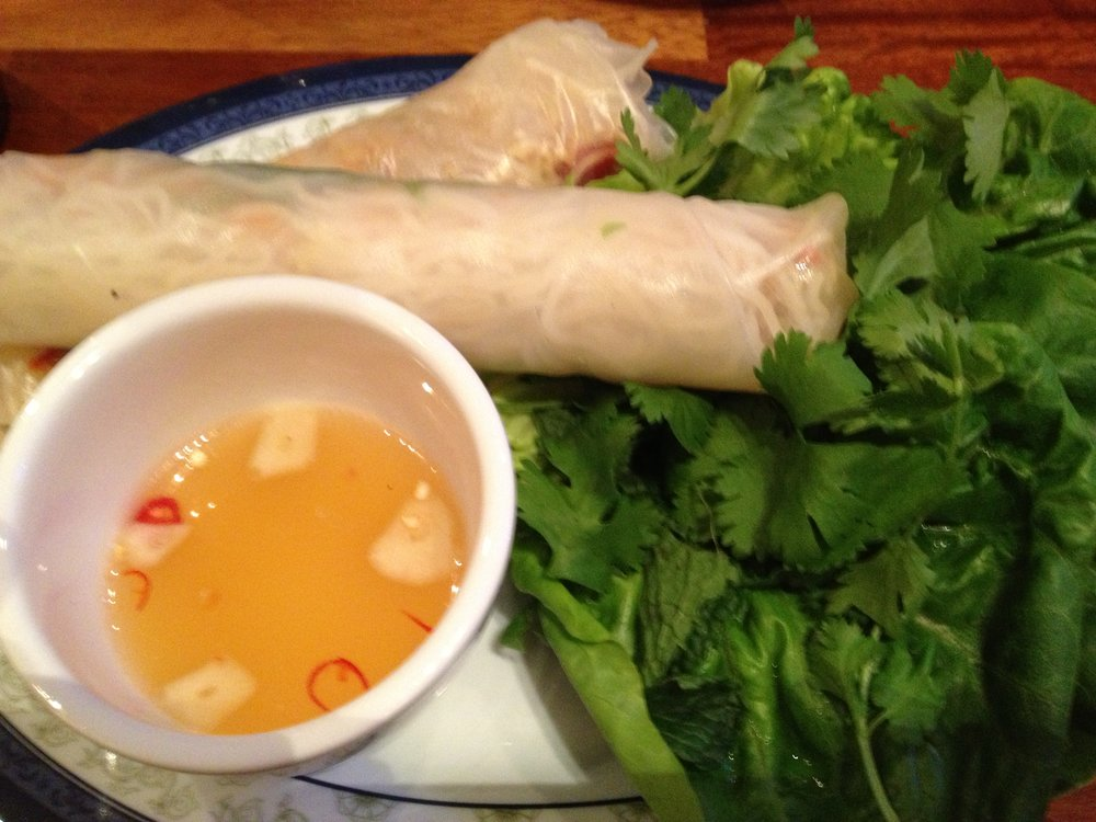 The Hanoi Bike Shop prawn rice paper rolls