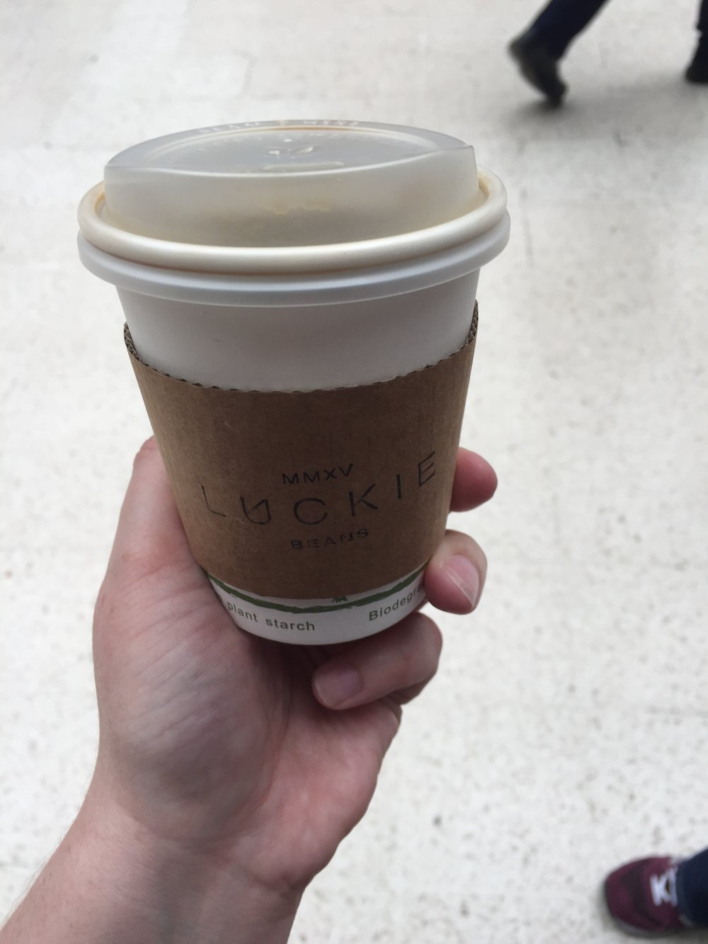 I was hungover so started the day with a coffee from  Luckie Beans  at Glasgow Queen Street Station