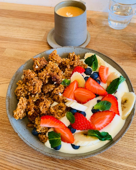 Kaf Coffee's gorgeous granola bowl