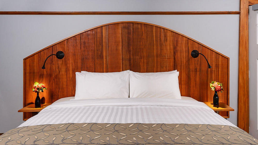 Oak Feature Headboard Upcycled from Rimu Panelling from Ballroom.jpg