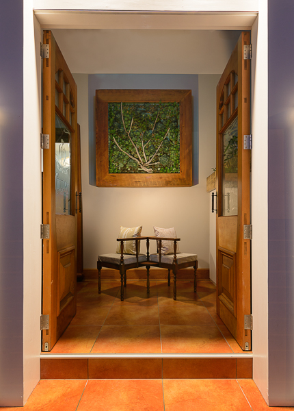 Entrance Photo Featuring Friends Seat and Green wall.jpg