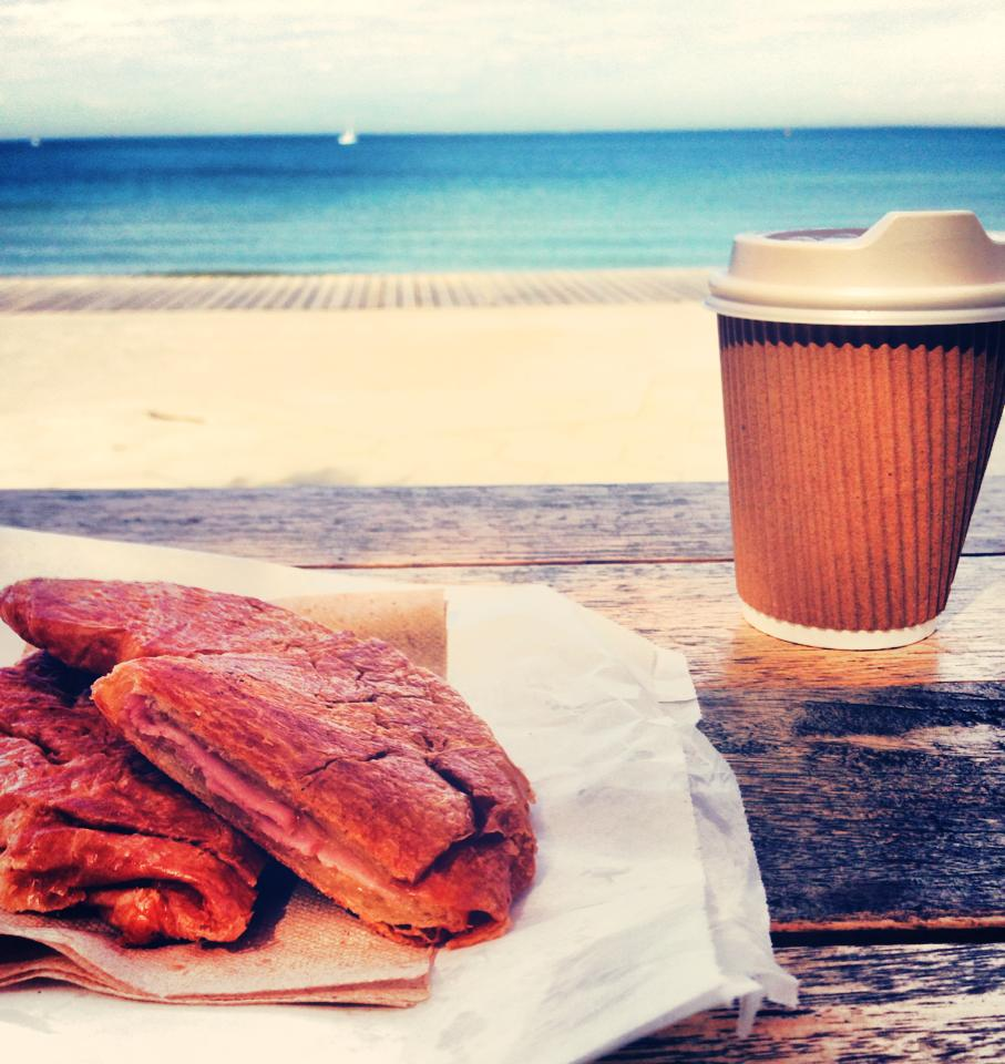 Breakfast of champions in St Kilda.