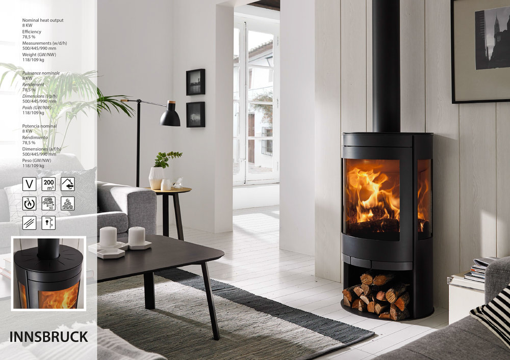 Innsbruck wood-burning stove