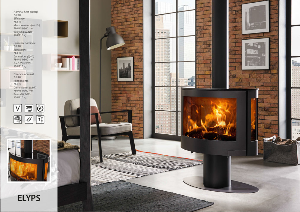ELYPS - Denia wood-burning stoves