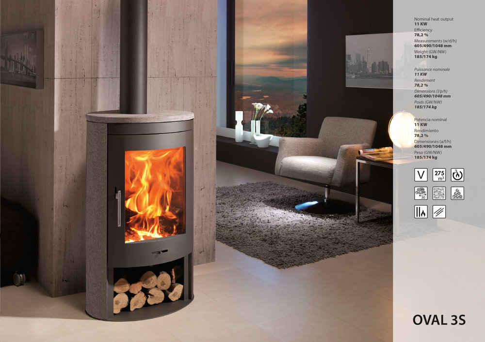 oval3s - Denia wood-burning stoves