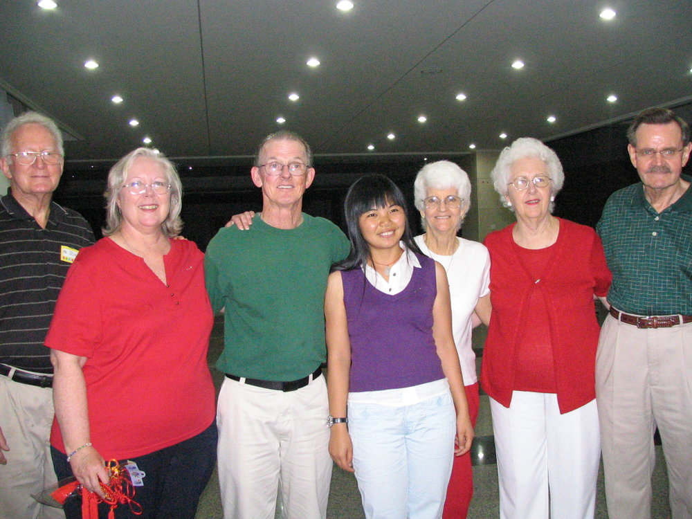 Barbara and Bernie with colleagues sharing Western teaching techniques with Chinese English teachers.