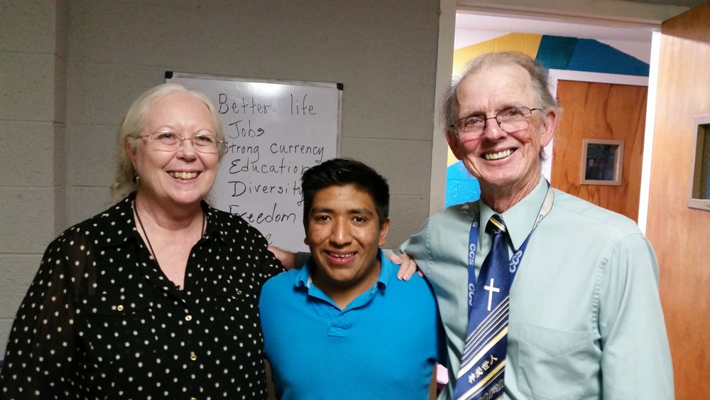 Ricardo with Barbara and Bernie