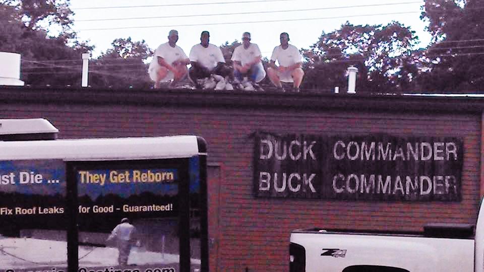 Duck Commander roof restored by South Georgia Coatings.
