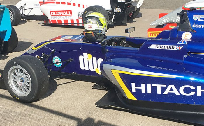 Side pod and floor damage for Collard. Photo: The Motorsport Report.