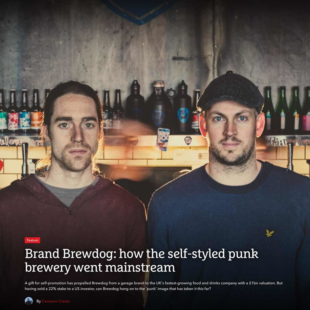 TheDrum: Our Creative Director Greig Anderson talks about the meteoric rise of brand Brewdog. Following the recent news of substantial investment in the Scottish Craft beer juggernauts. The Drum asked Creative Director, Greig Anderson for his thoughts on how brand Brewdog will handle the growth into a global beer brand. Read the full article by The Drums Cameron Clarke.
