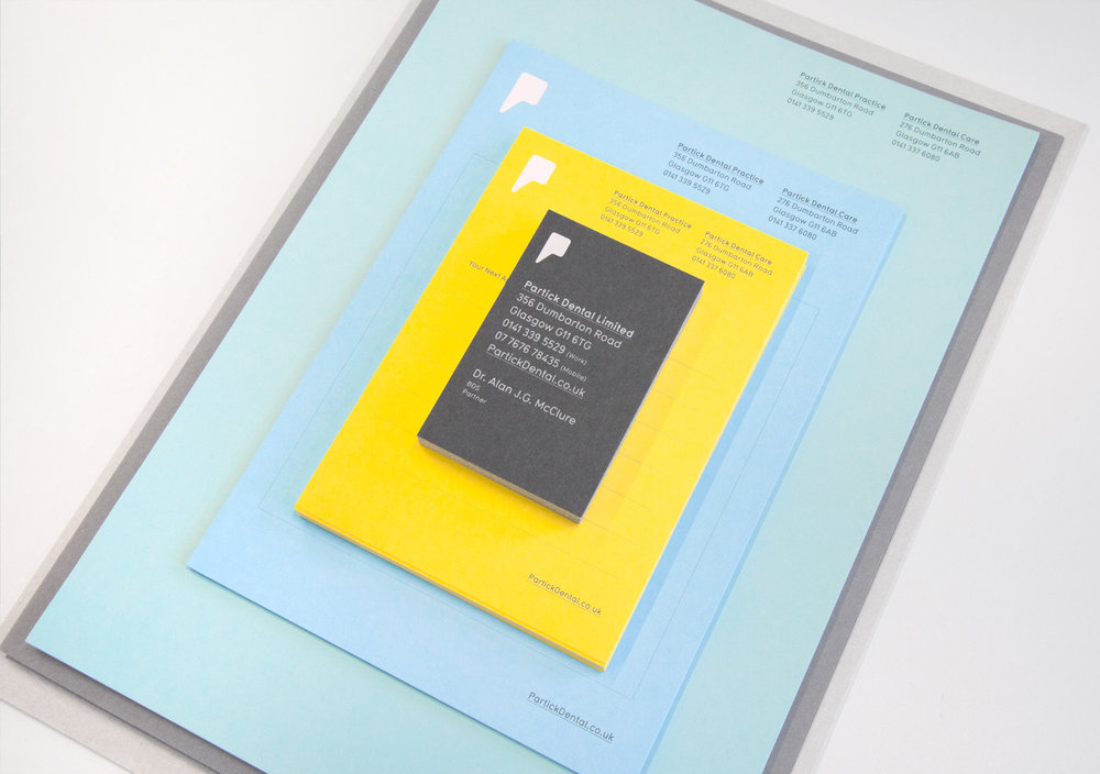 Copy of Copy of <b>Partick Dental</b><br>Creating a fresh and vibrant visual identity for their local dental practices