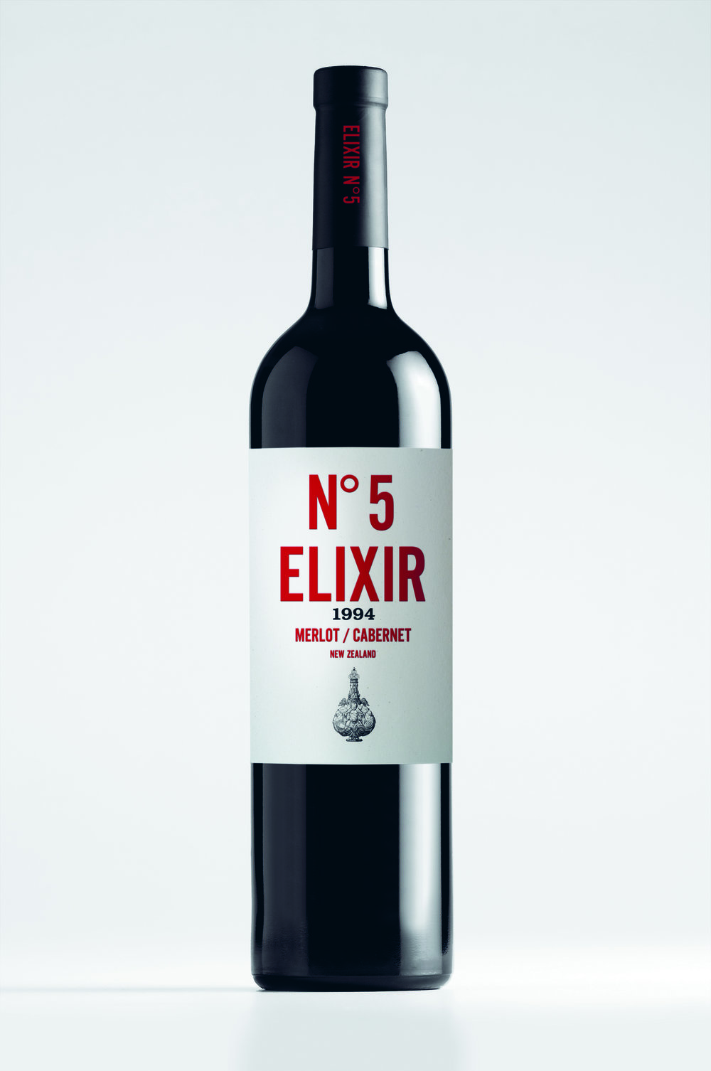 <b>Elixir Wine</b><br>Creating a unique and provocative identity for New Zealand's fine wines